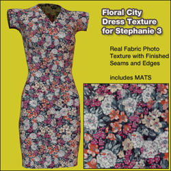 Floral City Dress Texture for Stephanie 3