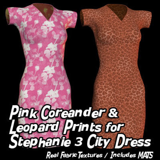 Picture of Pink Coriander and Leopard Prints for Stephanie 3 City