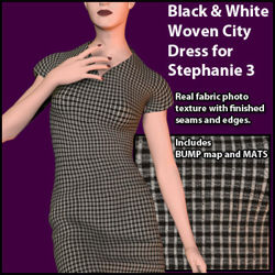 Black and White Woven City Dress for Stephanie 3