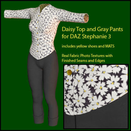 Picture of Daisy and Gray  Cassidy Outfit Textures for Stephanie 3