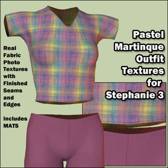 Picture of Plaid Pastel Martinique Outfit Textures for Stephanie 3