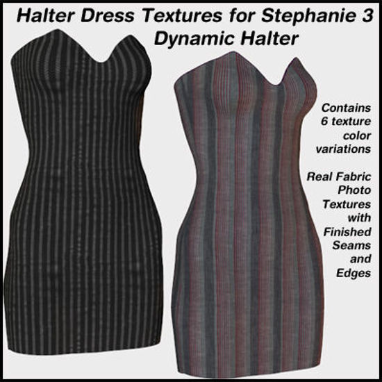 Picture of Dress Textures for the Stephanie 3 Dynamic Halter Dress