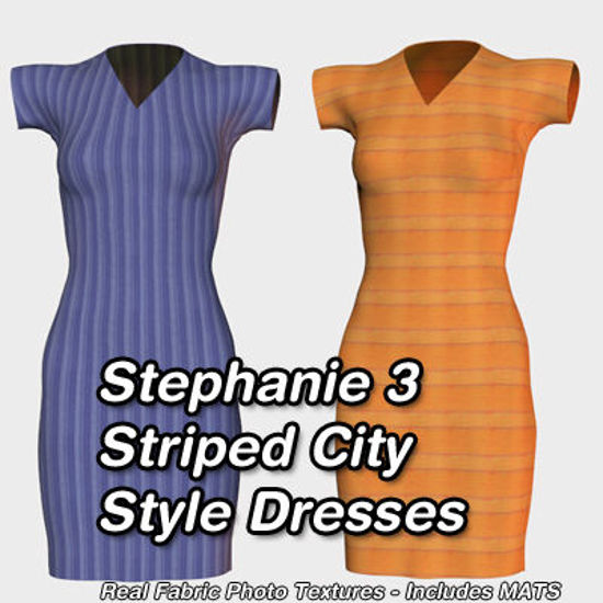 Picture of Striped City Style Dresses for Stephanie 3