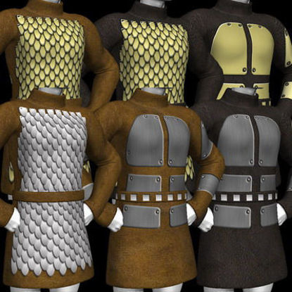 Picture of A huge set of textures and MAT's for the DAZ Mike 3 tunic. - Scale