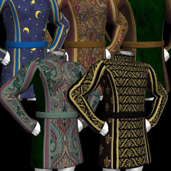 Picture of A huge set of textures and MAT's for the DAZ Mike 3 tunic. - Sweep