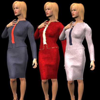 Picture of Textures and MAT Files for the Stephanie 3 Business suit