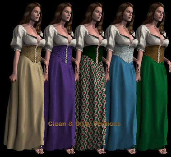 Picture of Textures, Trans and MAT Files for the Serving wench. - ServingWench_Ensembles