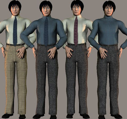 Picture of Victoria 3 Male Smart Suit Textures