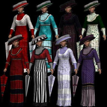 Picture of 1909 Dress - 8 Texture Pack