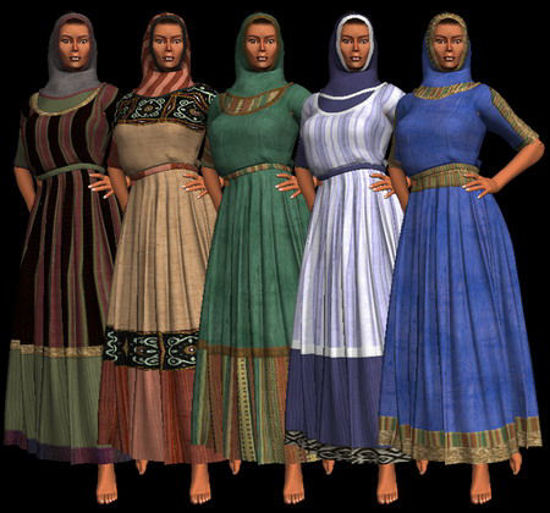 Picture of MAT files and textures for the biblical dress available on this page