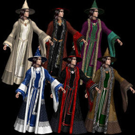 Picture of Textures and MATs for DAZ's Mike 3 Wizard robe and hat - PW_DAZm3wizrobes1