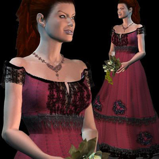 Picture of Titanic Jump Scene Gown texture