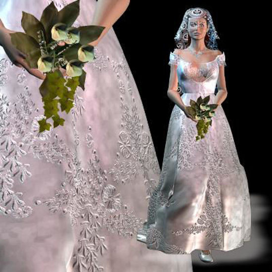 Picture of Wedding Gown3 Veil textures