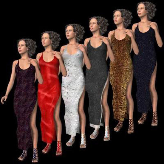 Picture of Side Split Evening dress textures