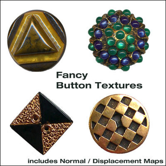 Picture of Fancy Button Textures with Normal / Displacement Maps