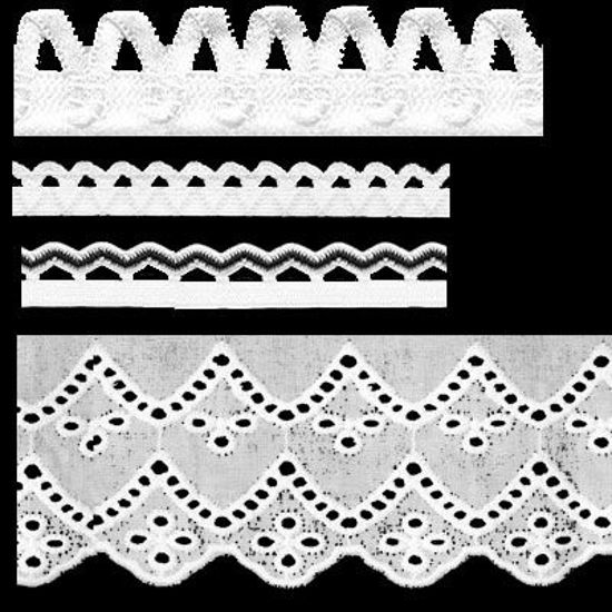 Picture of Seamless Lace Photoshop Brushes