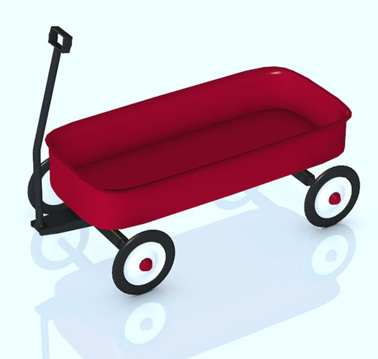 Picture of Little Red Wagon Kids Toy Prop