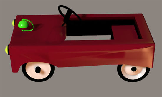 Picture of Little Red Fire Truck Kids Toy Prop