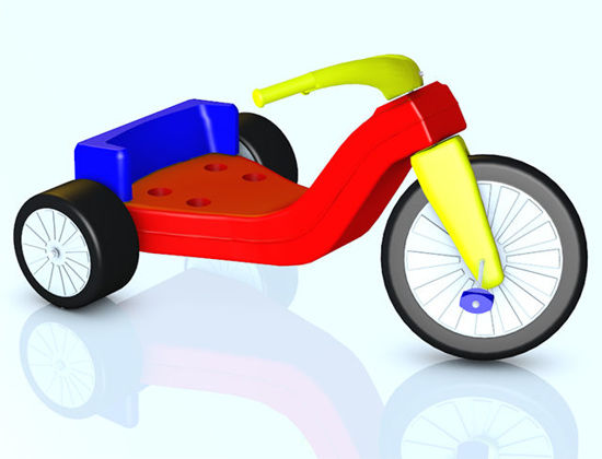 Picture of Big Wheel Toy Model with Movements - Poser and DAZ Studio Format