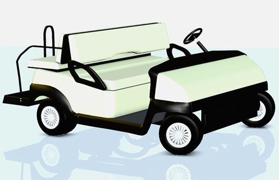 Picture of Golf Cart Model with Movements - Poser and DAZ Studio Format