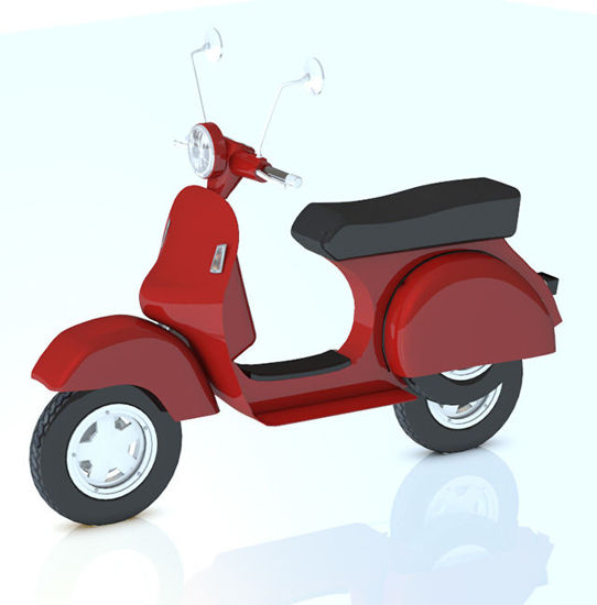 Picture of Vespa Style Motor Scooter Model with Movements