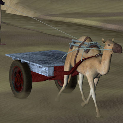 Picture of Camel Cart with Harness and Reins