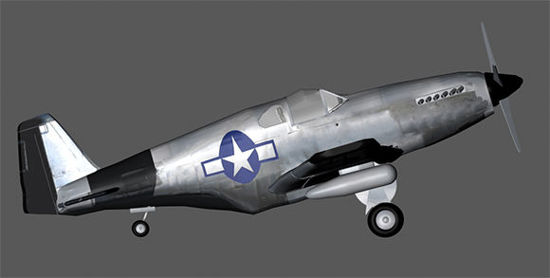 Picture of WWII P-51 Mustang Fighter Plane Prop