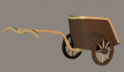 Picture of Ancient Roman Chariot Model