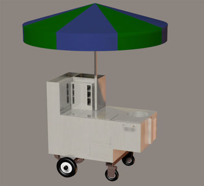 Picture of New York Hot Dog Cart Prop