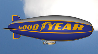 Picture of Goodyear Blimp Model