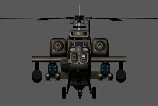 Picture of Apache Attack Helicopter Prop