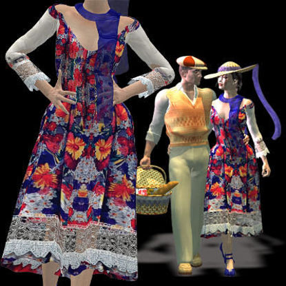 Picture of Romantic Picnic Dress - TRANS