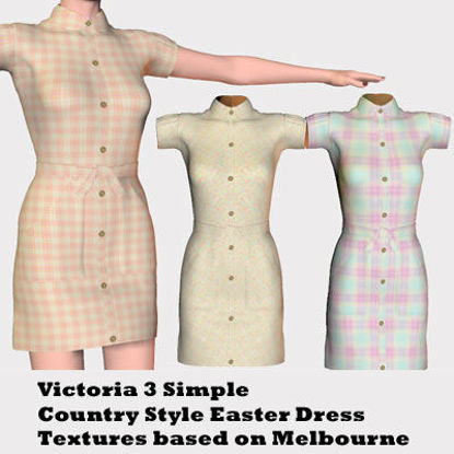 Picture of Victoria 3 Simple Country Easter Style Dress Textures
