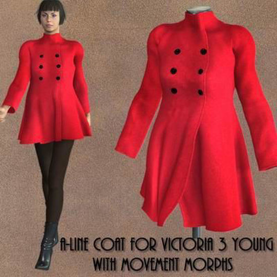 Picture of A-Line coat for Victoria 3-Young