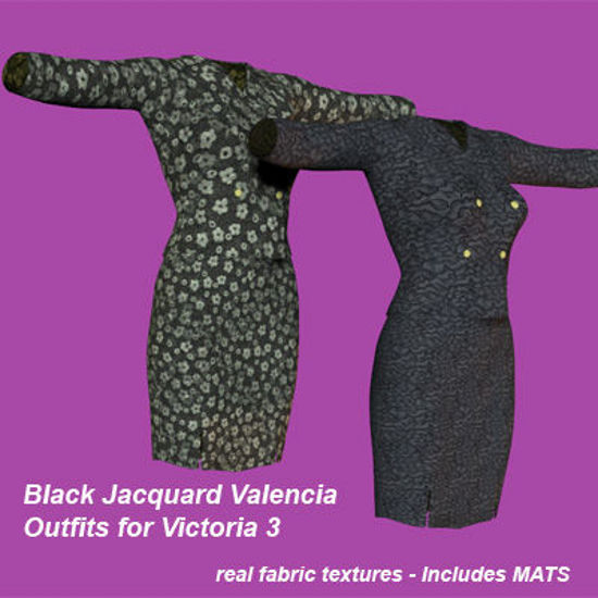 Picture of Black Jacquard Valencia Outfits for Victoria 3