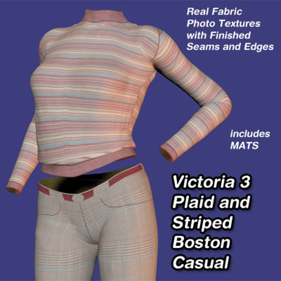 Picture of Plaid and Striped Boston Casual for Victoria 3