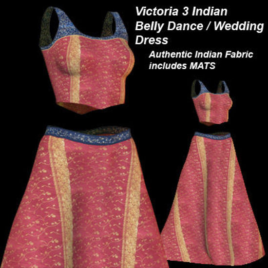 Picture of Red and Gold Indian Belly Dance - Wedding Dress for Victoria 3