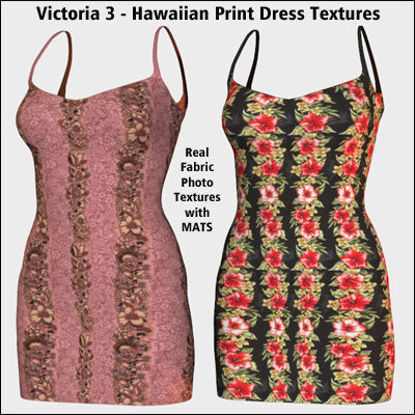 Picture of Hawaiian Dress Textures for the Victoria 3 Dress 1
