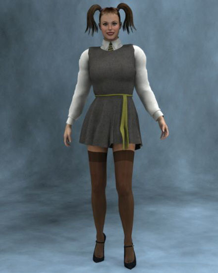 Picture of St Trinian style dress v3
