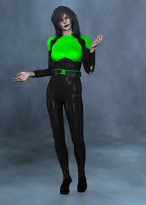 Picture of Jade Escada, cat suit and head morph for Vicky 3 - jadeescadawithfantasymorph