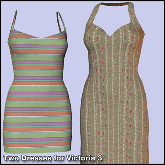 Picture of Two Dresses for DAZ Victoria 3