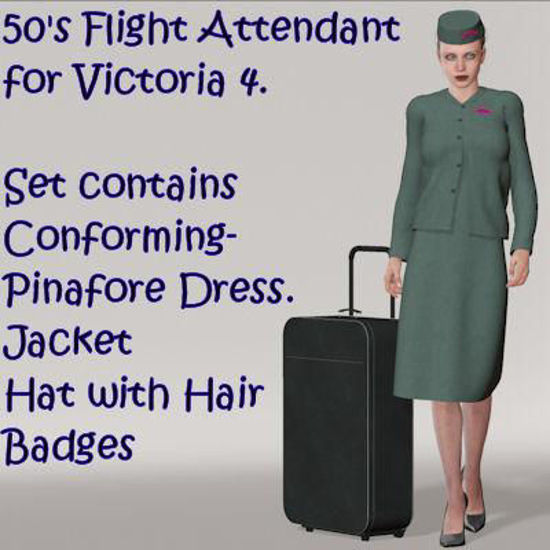 Picture of 50's Flight Attendant for Victoria 4