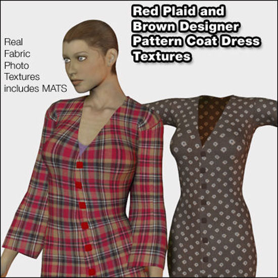 Picture of Two Coat Dress Textures for Victoria 4