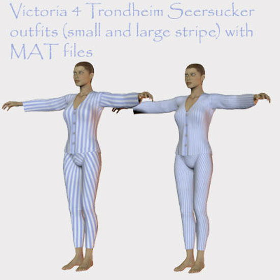 Picture of Seersucker Outfits  for Victoria 4 Trondheim - Add-On Material Pack