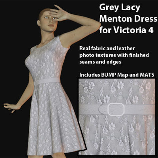Picture of White Lacy Menton Dress for Victoria 4