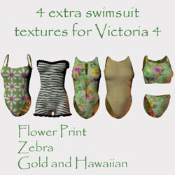 Extra Textures for the V4 Swimsuits