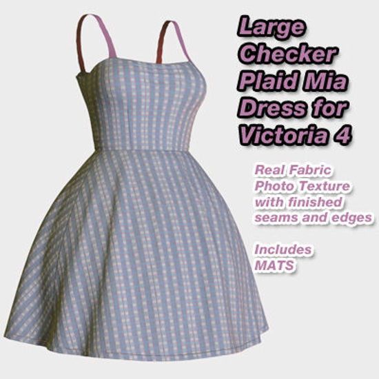 Picture of Large Checker Plaid Mia Dress for Victoria 4