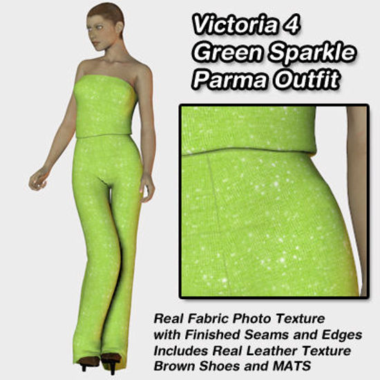 Picture of Green Sparkle Parma Outfit for Victoria 4