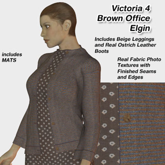 Picture of Brown Office Elgin Outfit Textures for Victoria 4
