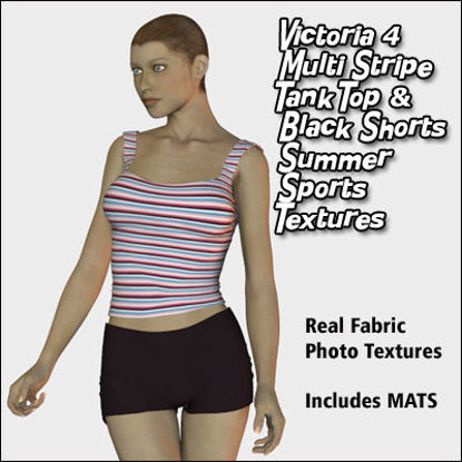 Picture of Multi-Striped Summer Sports Set Textures